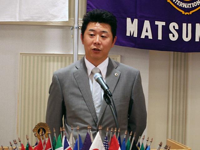 9月第一例会のご報告|松本ライオンズクラブの活動報告 柳沢裕一